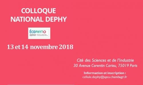 Colloque National DEPHY 2018 - 13 et 14 novembre à Paris