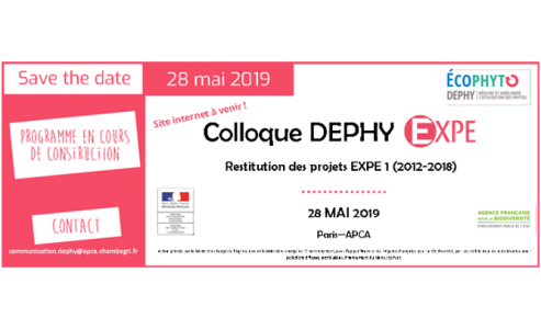 Colloque National DEPHY EXPE à l'APCA le 28 mai 2019