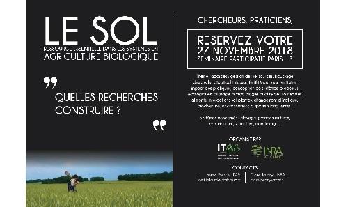 Le sol : ressource essentielle dans les systèmes en agriculture biologique